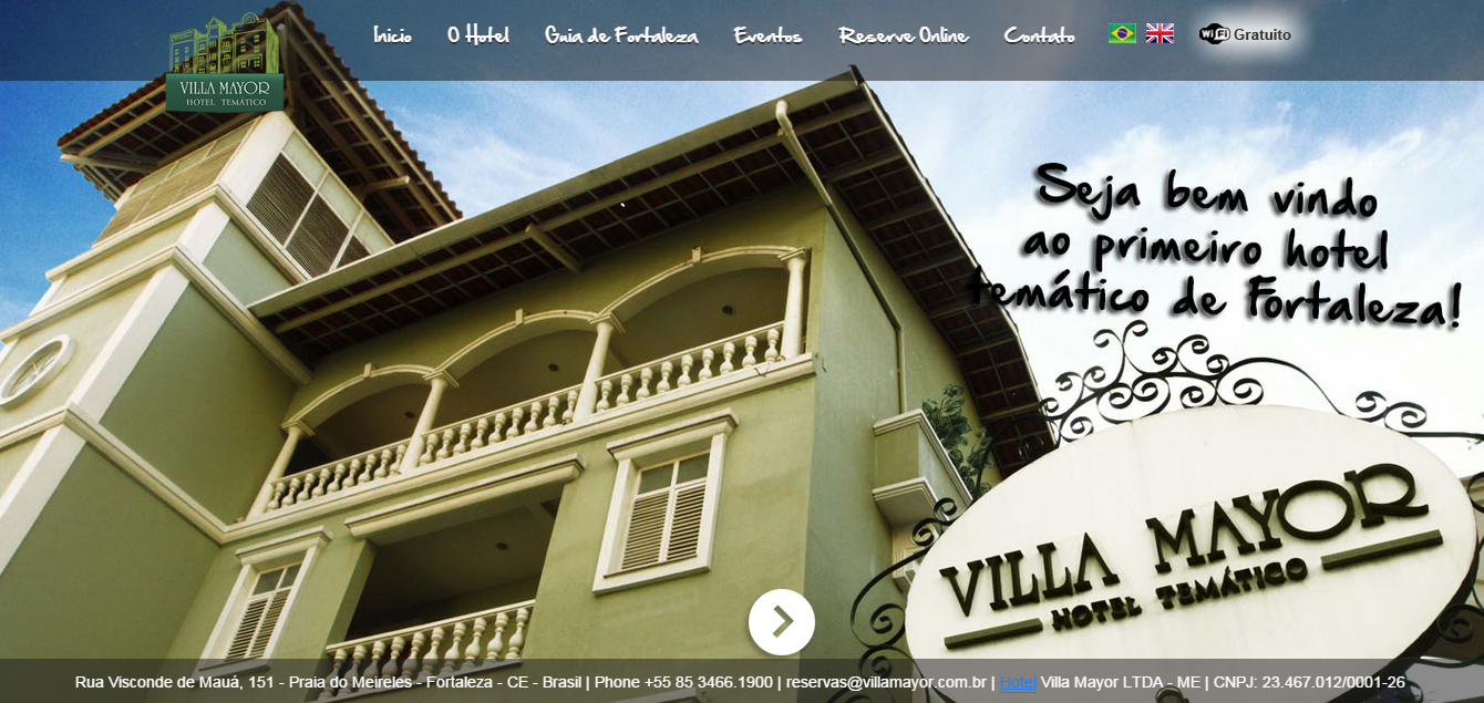 Novo Site Hotel Villa Mayor